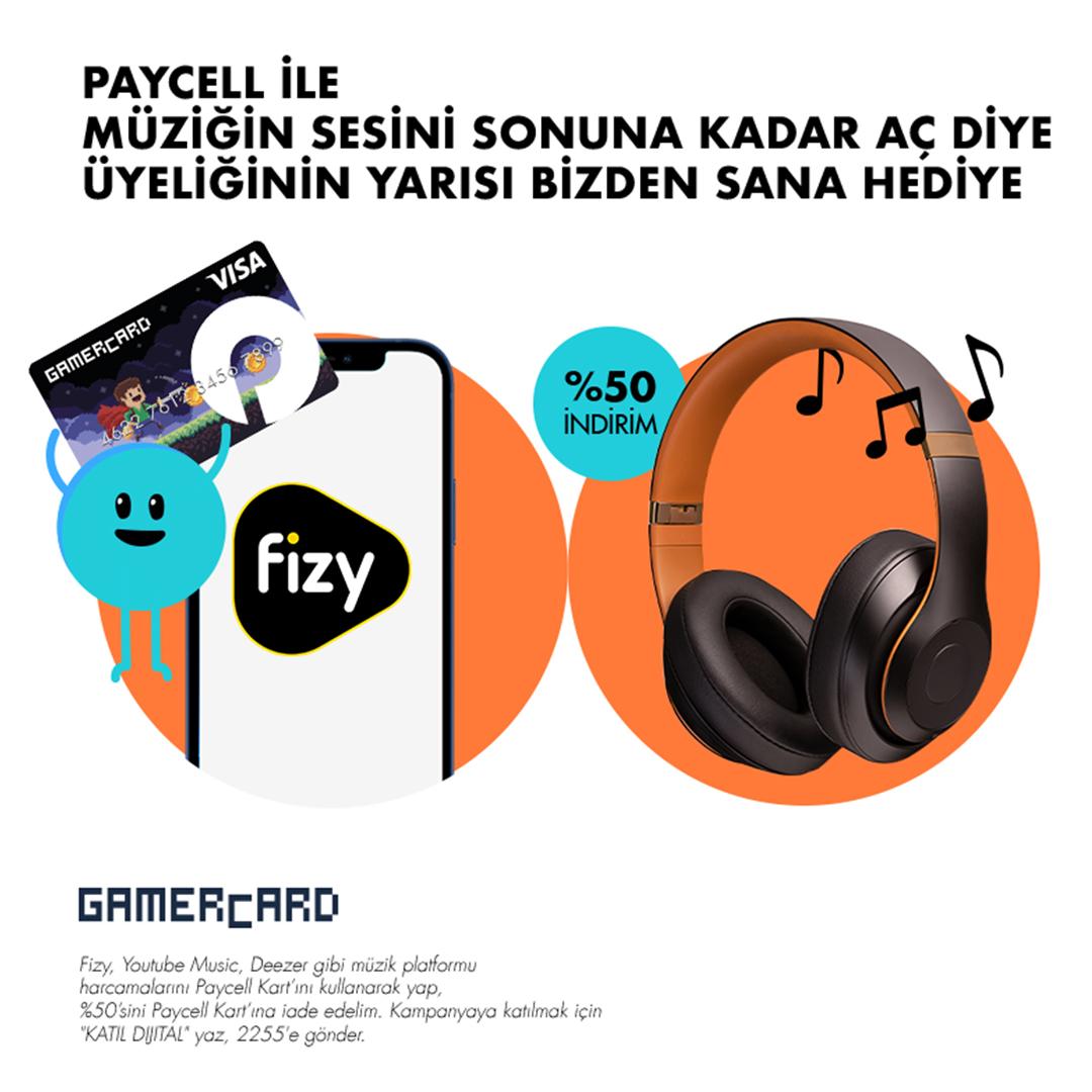Paycell GAMERCARD Müzik Dinlerken De Kazandırır!